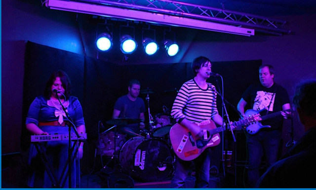 The Nothings on stage
