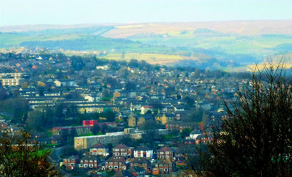 A view from Bole Hill across the Rivelin and Loxley valleys of north-west Sheffield